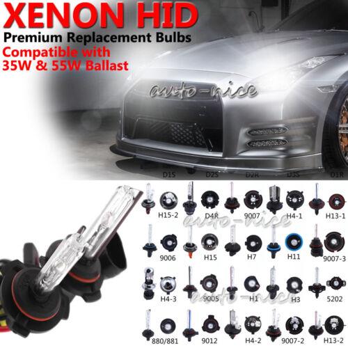 2x HID Kit/'s Replacement Bulbs High Beam Low Beam Bi-xenon Light work on 35W 55W