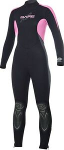 PLUS PINK BLACK NEW 5MM BARE WOMENS SPORT FULL SCUBA DIVING WETSUIT SIZE 12