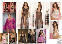 PLUS SIZE LINGERIE THONG Babydoll Teddy Nightie Chemise bustier Valentine