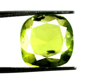 Olive Green Peridot 6.90 Ct Cushion Gems 100% Natural Pakistan Certified Y6026
