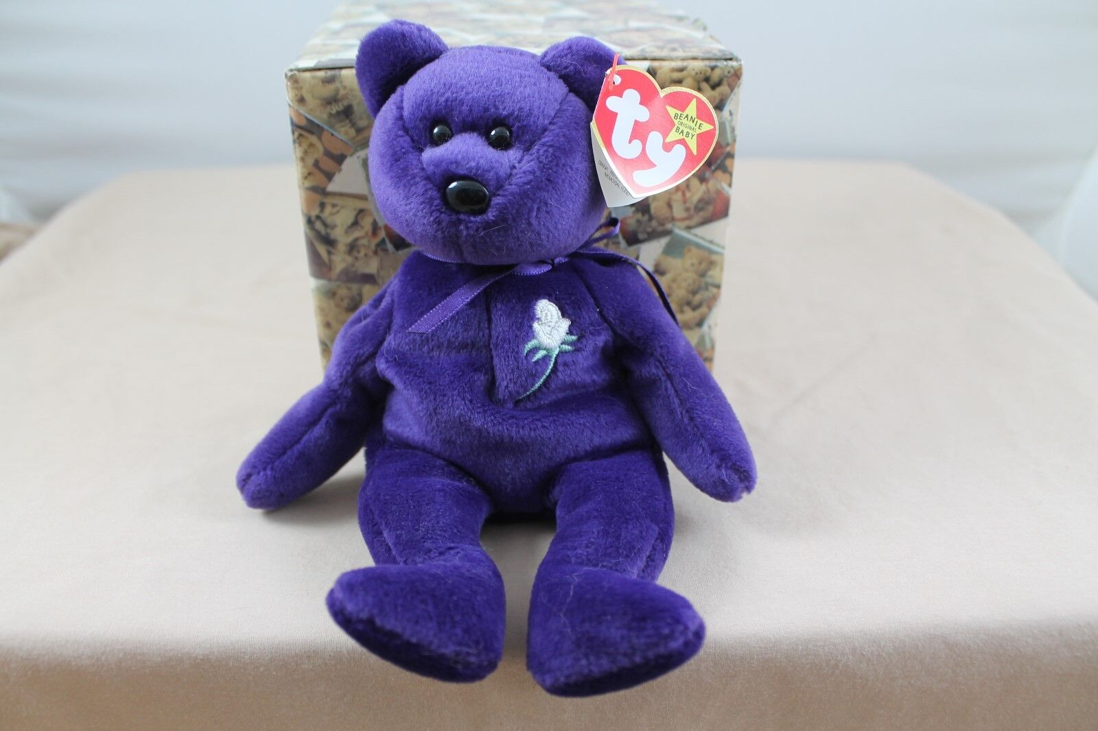 Ultra Rare MWMT 1st Edition Ty Princess Diana Beanie Baby No Space No Number