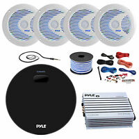 Amp / Receiver, 4x 6.5'' Speakers, Amp, Amp Install Kit, 18g 50ft Wire, Antenna on sale