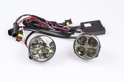 2x LED 6000K 12V DRL Tagfahrlicht 8 SMD RUND Ø70mm TÜV FREI R87 Modul Subaru