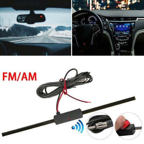12V Windshield Car AM FM Radio Antenna Signal Amplifier Booster Universal Antena