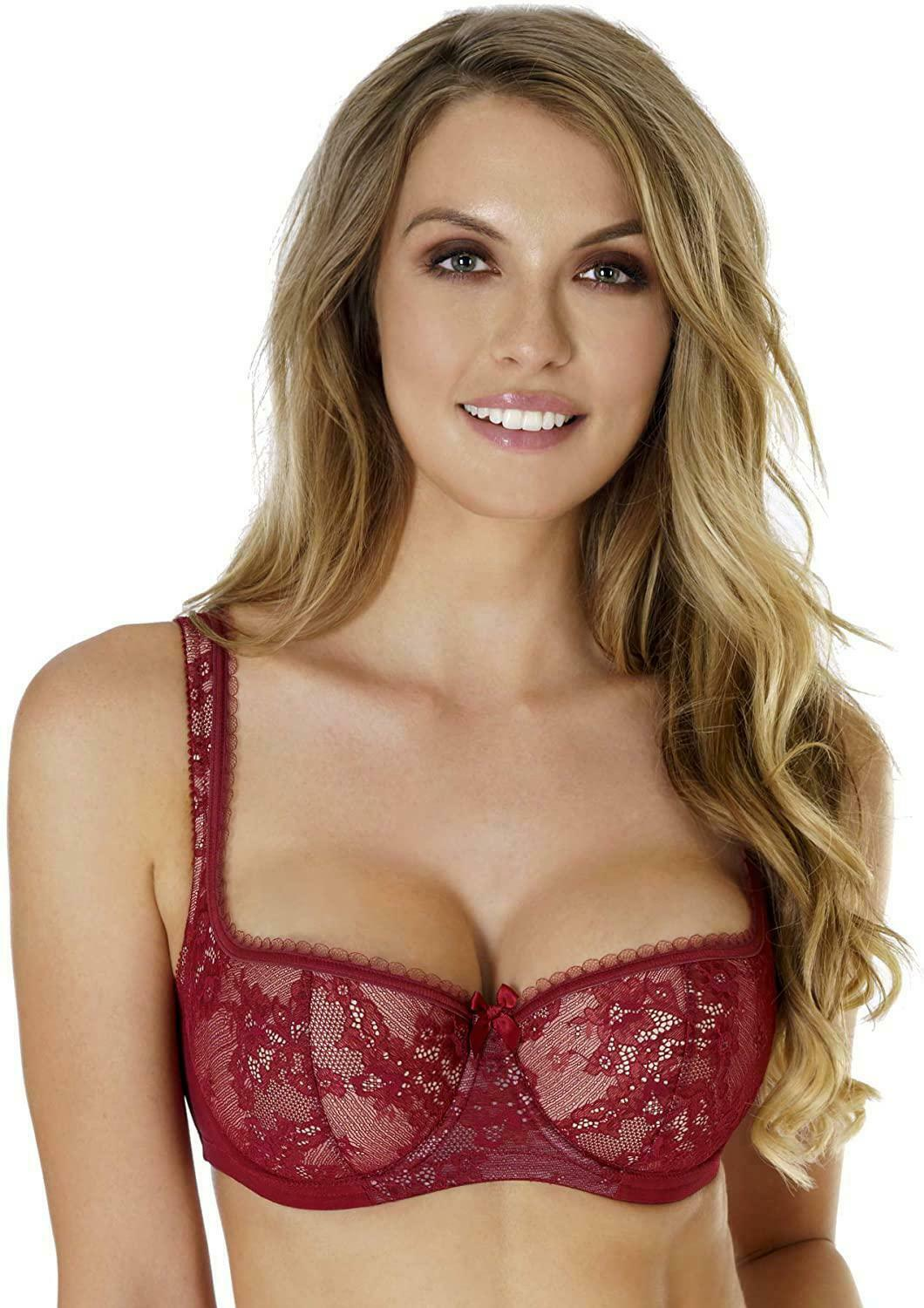 Collection Eliza Rosme Womens Balconette Bra with Padded Straps