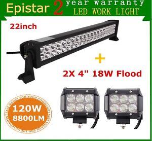 22-034-120w-Led-Work-Light-Bar-Combo-2X-4-034-18W-Flood-Pod-Lights-Driving-SUV-Truck