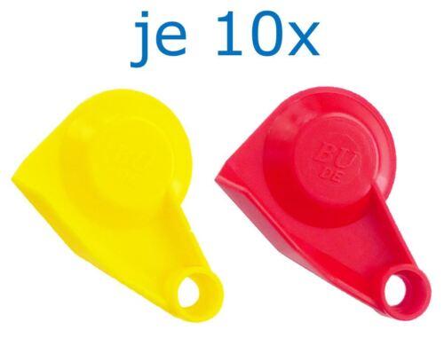 Set Staubdeckel Deckel Staubkappe Kappe für Kupplungskopf Standard rot//gelb LKW