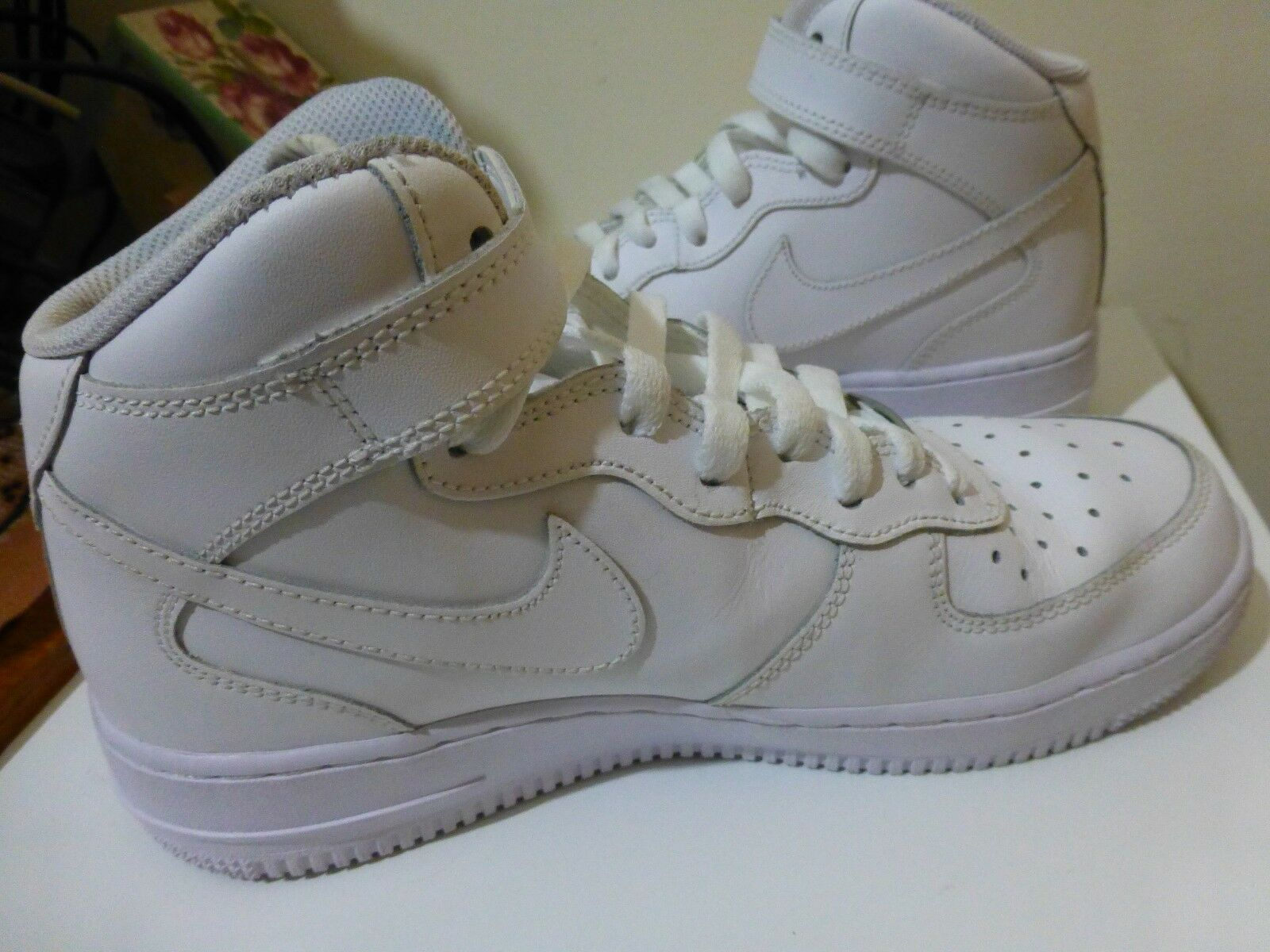 NIKE AIR FORCE1 HIGH 1.2' Sport Shoes US:6.5 / EUR:37.5 / UK:4, Lace-Up & Velcro