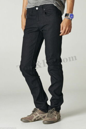 Mens Skinny Fit Jeans Pants Casual Stretch Pencil Trousers