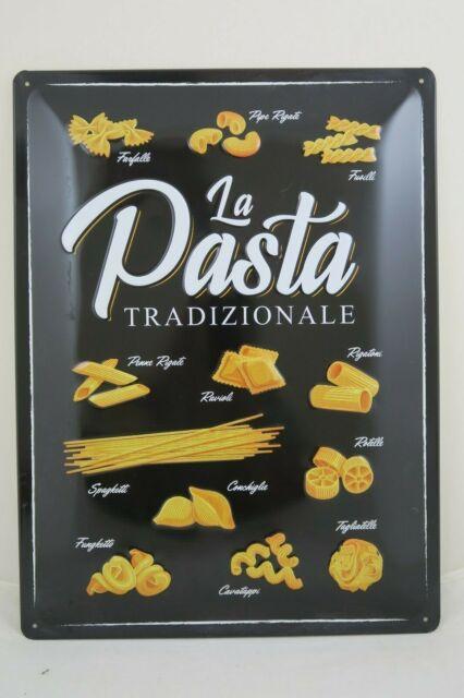 LARGE Tin Metal Embossed Sign~ Pasta 30 X 40 CM Licensed Cafe Bar Restaurant