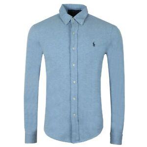 Ralph-Lauren-Men-039-s-Featherweight-Mesh-Shirt-L-Blue-Size-Small-42-034-Chest