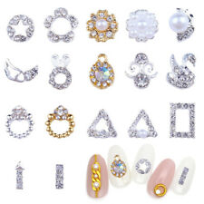 10Pcs 3D New Chic Nail Art Glitter Decoration Colorful Alloy Rhinestones