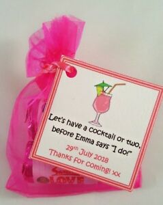 Image Is Loading Personalised Hen Do Favours Party Night