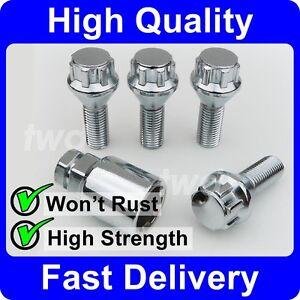 ALLOY-WHEEL-LOCKING-BOLTS-FOR-BMW-3-SERIES-E30-E36-E46-E90-M12x1-5-NUTS-H0b