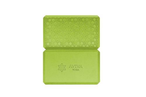 AVIVA YOGA 9x6x4 Yoga Block Set 2 High Density EVA Foam Blocks /& Free Sackpack