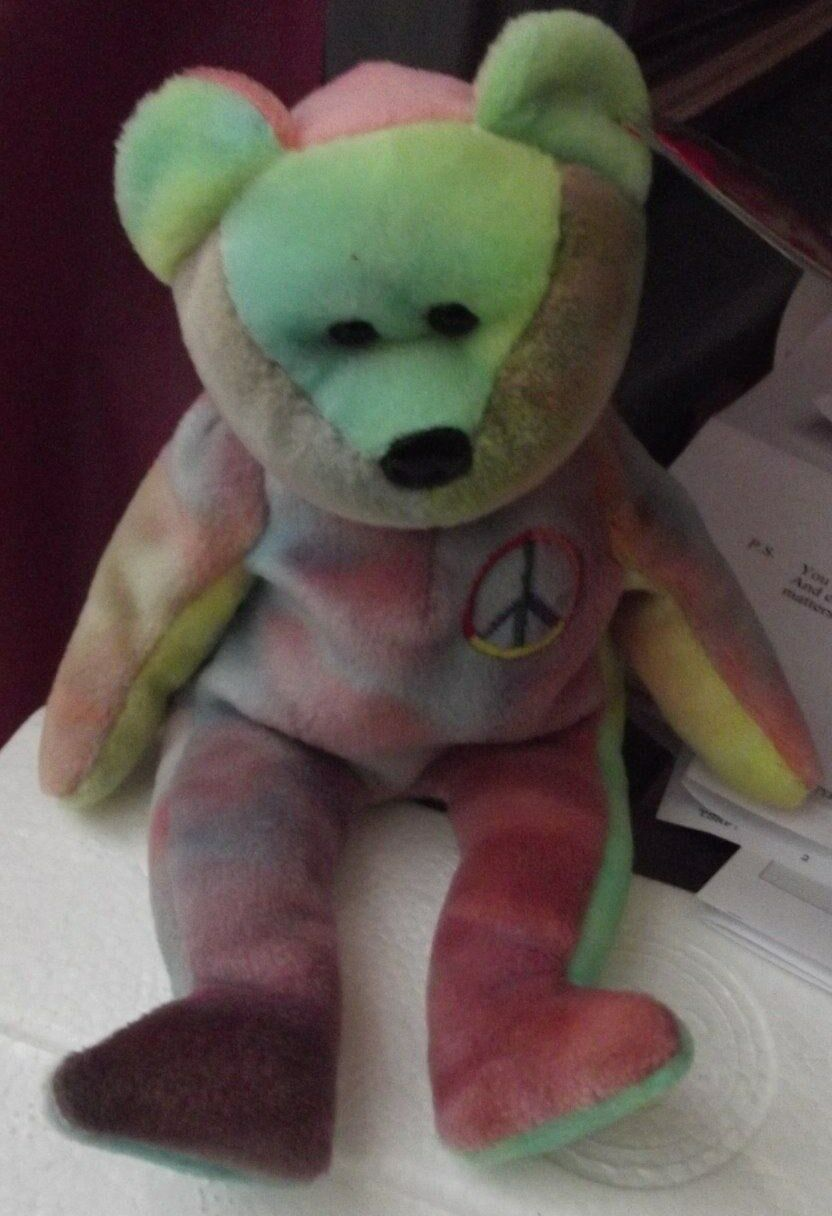 BEANIE BABY Peace - Errors - ORIGIINAL Hang Tag &  label  over  SUFACE  tag