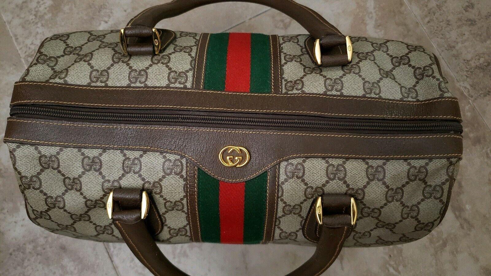 Vintage Gucci GG Monogram Boston Brown Speedy Bag… - image 5