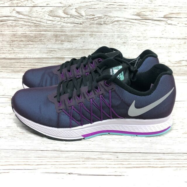 hecho guía obesidad  Nike Air Zoom Pegasus 32 Flash Running Shoes Trainers UK Size 9 Black H20  Repel for sale | eBay