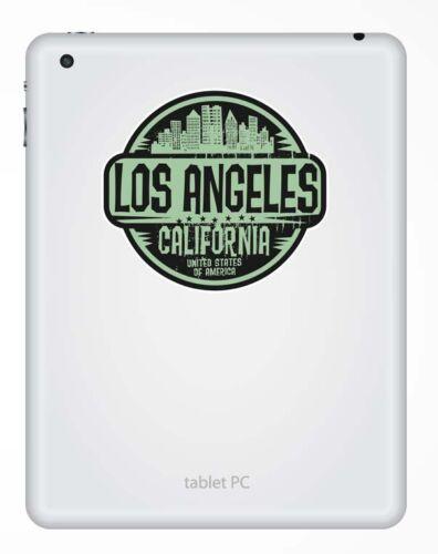 2 x 10cm los angeles california usa autocollant Voiture Ordinateur Portable de Voyage bagages # 6064