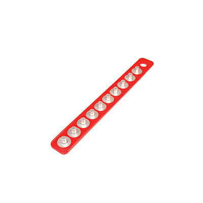 "Mag-clip 72403 Original Mag-clip Socket Holder Strip Red 1/2"""