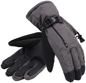 Men's Winter 3M Thinsulate Waterproof Touchscreen Ski Snow Gloves