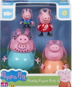 Peppa-Pig-Figuren-Familie-Pack-4-Artikuliert-Spielzeug-Kinder