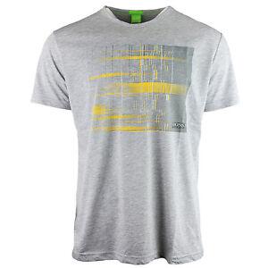 Image is loading Hugo-Boss-Mens-T-Shirt-Grey-Fashion-Crew-
