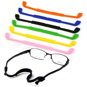 1f744e977e11 Image is loading Silicone-Eyeglasses-Glasses-Sunglasses-Strap-Sports-Band- Cord-