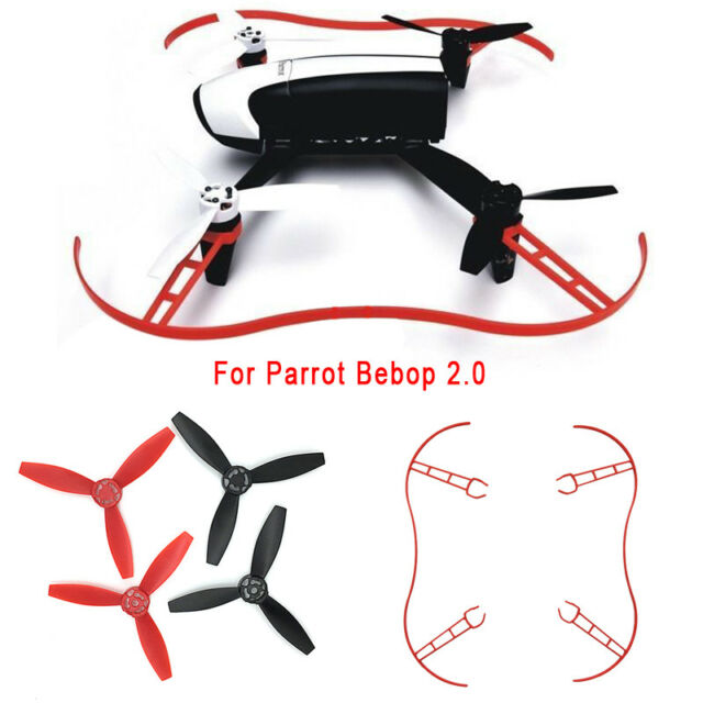 White Quick Release Propeller Bumper Guard Protector Fr Parrot Bebop Drone 2.0
