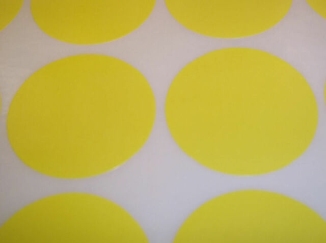 100 Yellow 15mm (1/2 Inch) Colour Code Dots Round Stickers Sticky ID Labels