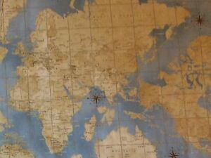 Rpg665a theory of aviation wright bros world map navigation cotton image is loading rpg665a theory of aviation wright bros world map gumiabroncs Gallery