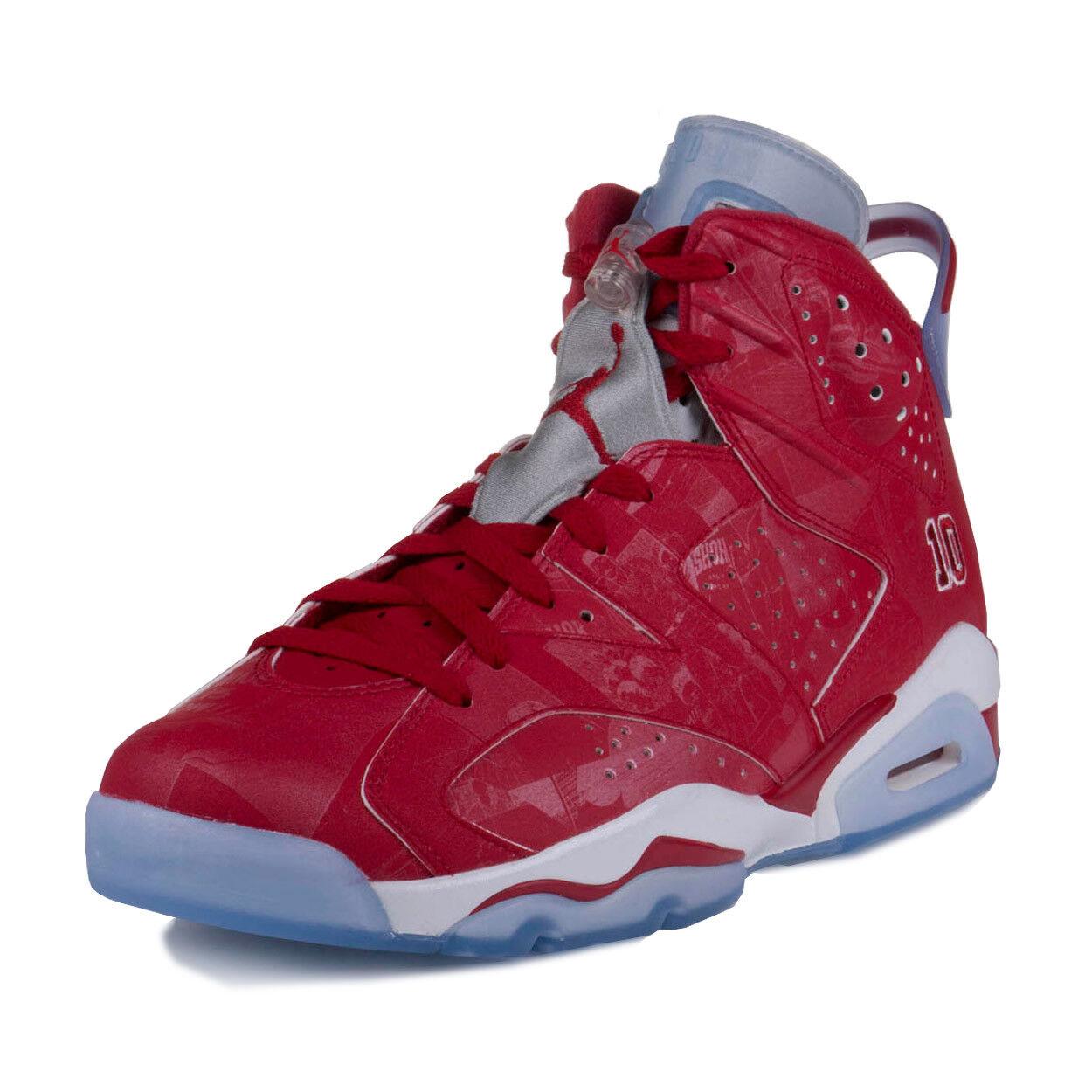 Nike Hommes Air Jordan 6 Retro X Slam Dunk Varsity rouge -blanc 717302-600