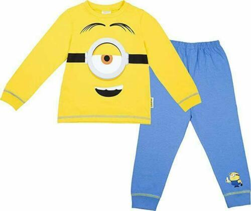 Minions Eye Pyjamas Boys Girls Pjs Nightwear Age 2 3 4 5 6 7 8 Yrs Fancy Dress