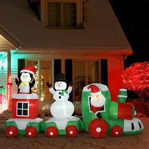 HOMCOM-11-039-Long-Lighted-Christmas-Inflatable-Train-Santa-Claus-Indoor-Outdoor