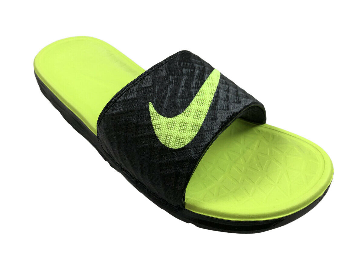 ed0f9591e Nike Men Benassi Solarsoft 2 Slides Sandal Black Volt 8 for sale ... nike