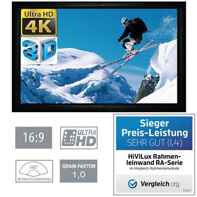 """Beamer-leinwände Dvd, Blu-ray & Heimkino Hivilux 3d/4k/uhd Alu Rahmen Leinwand 16:9/150""""/332x187cm/5j.garantie/schienen/a"""