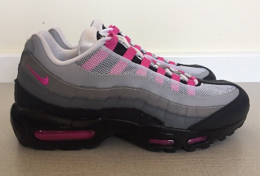 new styles ae8ce b3a03 Nike Air Max 95 ID Taille 8 uk 42.5 Eur Gris Rose OG couleur 818593 995