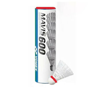 Yonex-Mavis-600-6-Nylon-Badminton-Shuttlecocks-White-Red-Cap