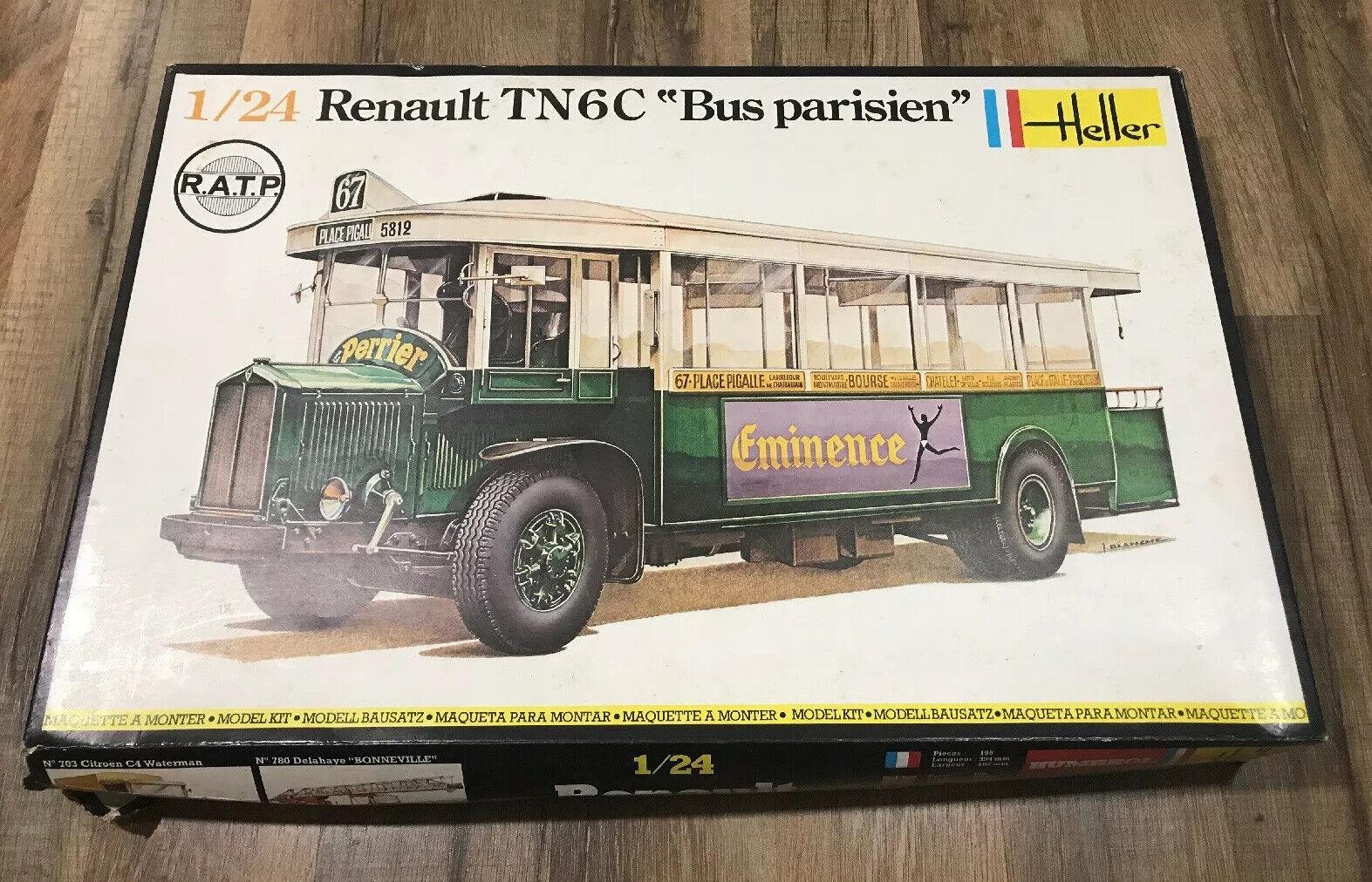 Heller Renault TN6C {65533;65533; Bus Parisien 65533;65533; 1 24 Modell nr. 789 Aldrig Built