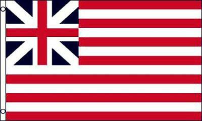 Grand Union UK Nylon Double Sided Flag 3x5 Banner Grommets 5x3 Collectors Item