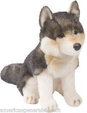 """ATKA Douglas Cuddle Toy plush 10"""" tall WOLF stuffed animal toy timber gray akta"""