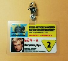 Man From UNCLE ID Badge-All Access Agent 2 Ilya Kuryakin Style B