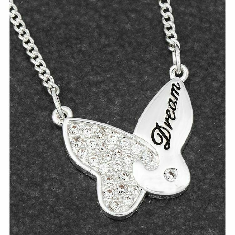 Butterfly Jigsaw Silver Plated Necklace Dream
