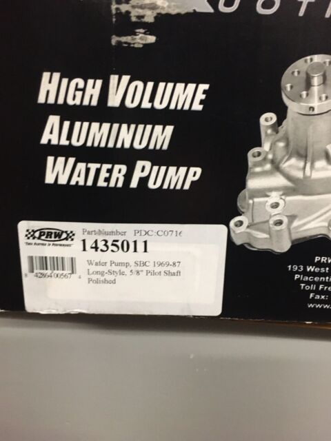 PRW High-Performance Polished Aluminum Water Pump 1435011 Small Block Chevy