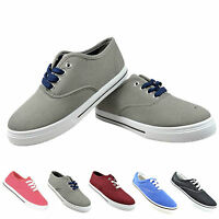 KIDS NEW SUMMER CANVAS PUMPS GIRLS BOYS SCHOOL CANVAS CASUAL TRAINERS SHOES SIZE