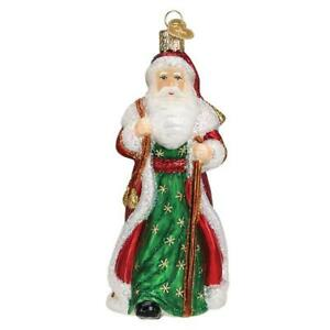 034-Father-Christmas-with-Bells-034-40307-X-Old-World-Christmas-Glass-Ornament-w-Box
