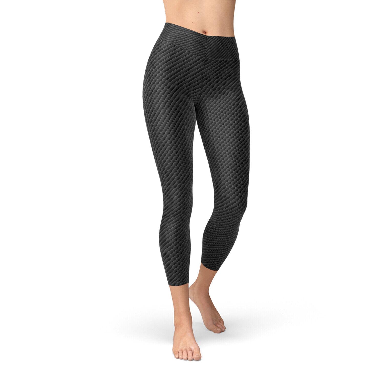 Leggings pirata Yoga de fibra de Cochebono para mujeres con cintura alta pantalones de Largoitud media caña