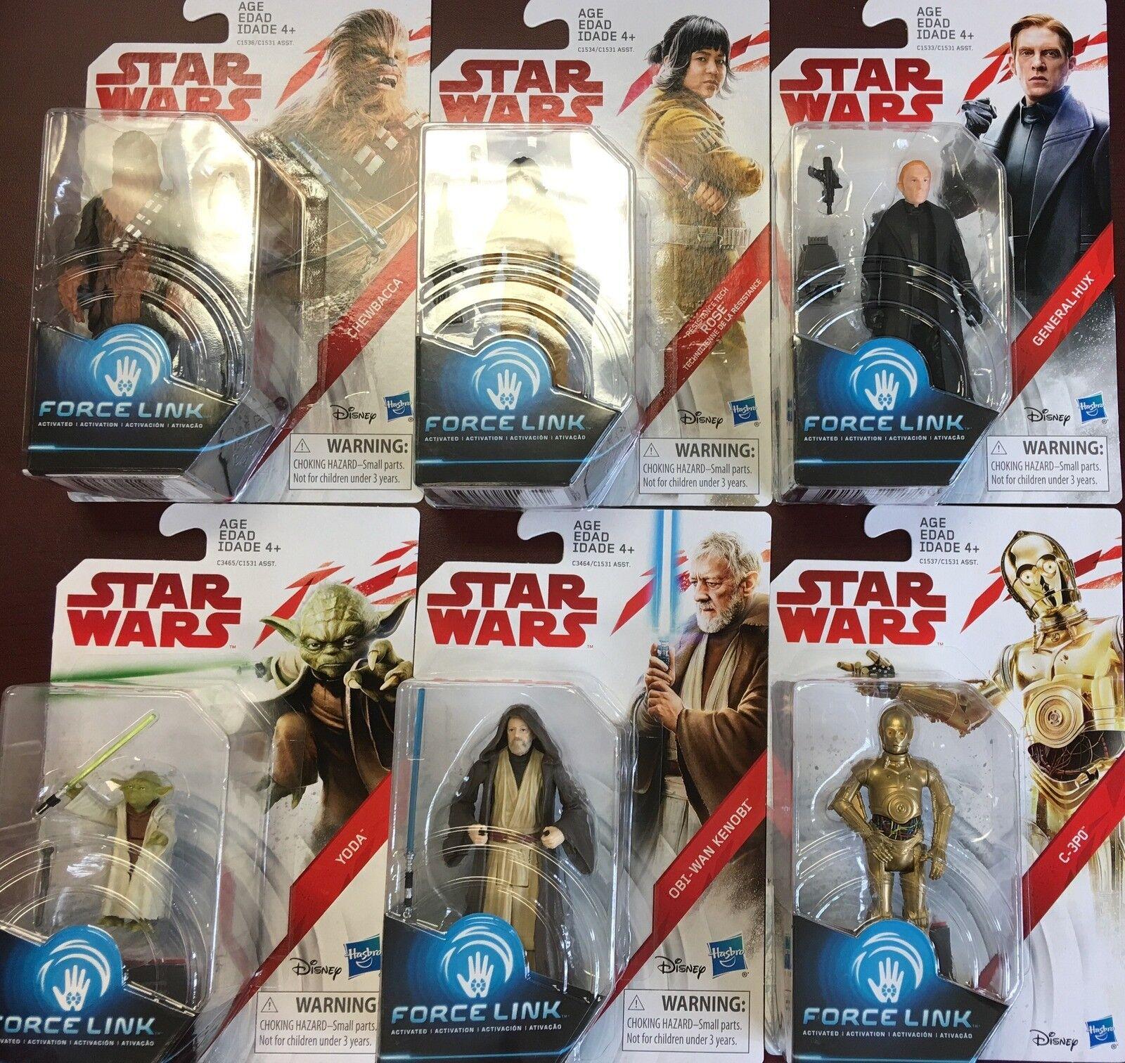 Enlace de fuerza de la guerra de las Galaxias La última Jedi Conjunto de 12 Figuras De Yoda Obi Wan 3.75  en existencias
