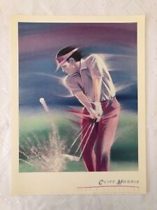 CLIFF-MORRIS-039-GOLF-039-SPORTS-COLLECTION-RARE-AUTHENTIC-1989-ART-PRINT
