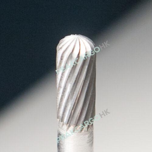 """Radius Cylinder Tungsten Steel Solid Carbide Burr Bit 1//4/"""" x 5//16/"""" Plain Cut"""